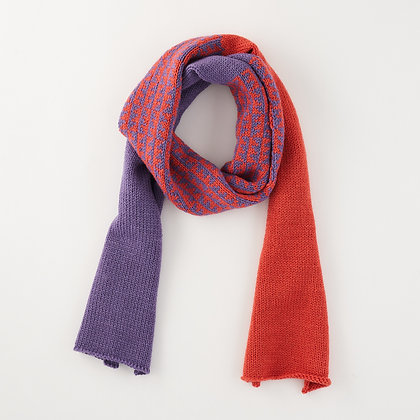 Chunky Scarf, Coral and Purple