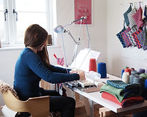 Katie Allen of Loopy Ewes, handcrafting her own range of artisan homewares and accessories