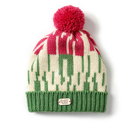 Bobble Hat in Hedgerow