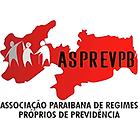 Logotipo da ASPREVPB. Contém mapa da paraíba e dois idosos sendo amparados por um cidadão.
