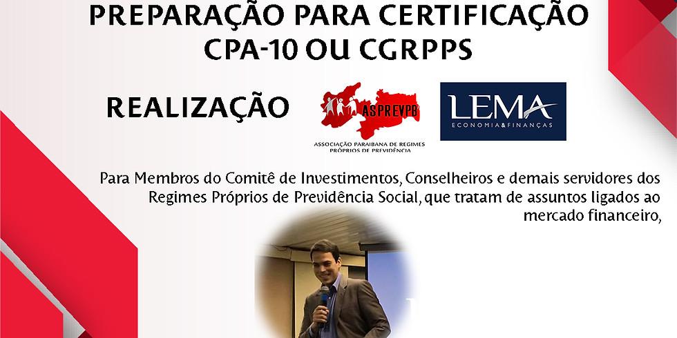 Preparação para Certificação CPA-10 ou CGRPPS