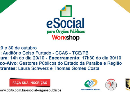 ASPREVPB promove workshop  eSocial para órgãos públicos