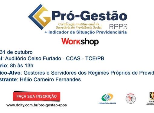 ASPREVPB promove workshop sobre Pró-Gestão + Indicador de Situação Previdenciária