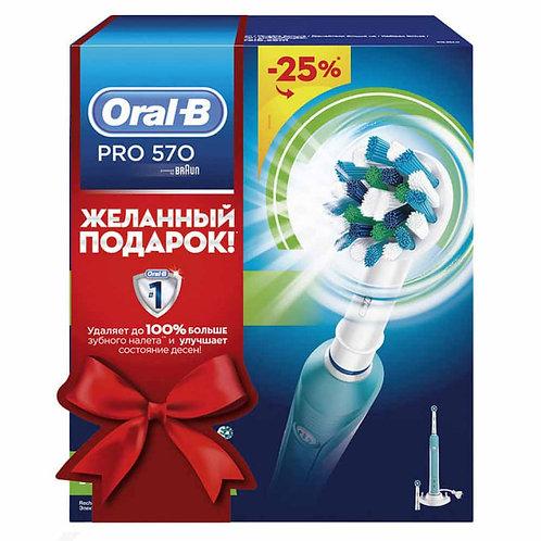 Braun Oral-B PRO 570 D16.524U (эл. зубная щетка бирюзовая)