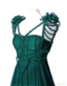 Bespoke green wedding dress by ROHMY Couture