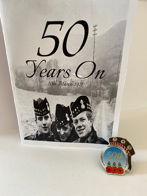 Official 50th Anniversary Badge & Booklet