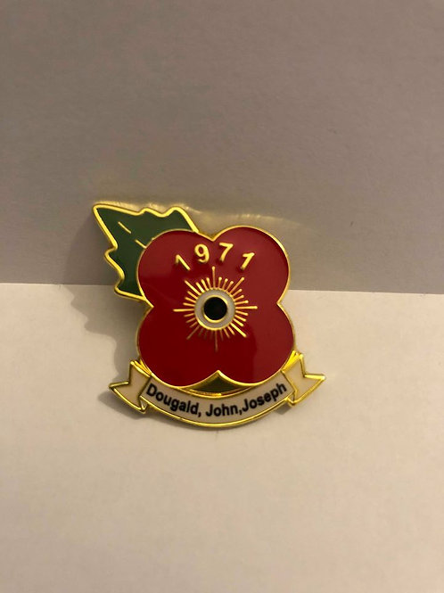 Official  Remembrance Pin Badge