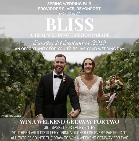 BLISS - A 'REAL WEDDING' FASHION PARADE.