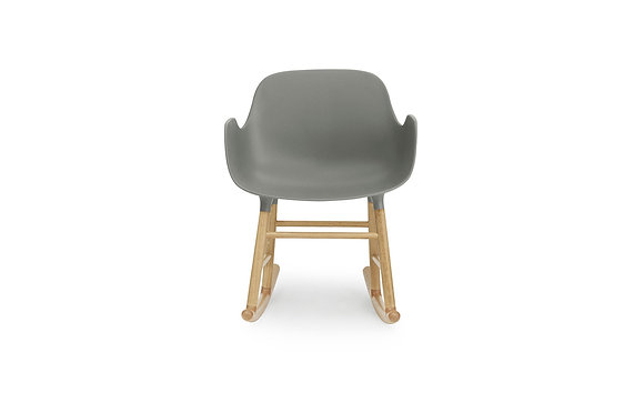 normann / Form Rocking Armchair - Oak - Grey