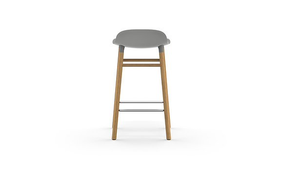 normann / Form Barstool 65cm - Oak - Grey
