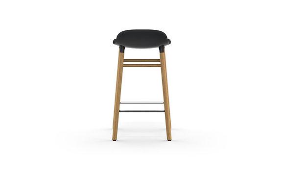 normann / Form Barstool 65cm - Oak - Blac