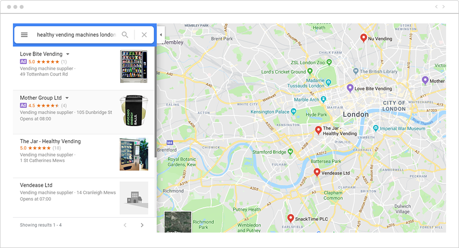 Google Maps listing for The Jar