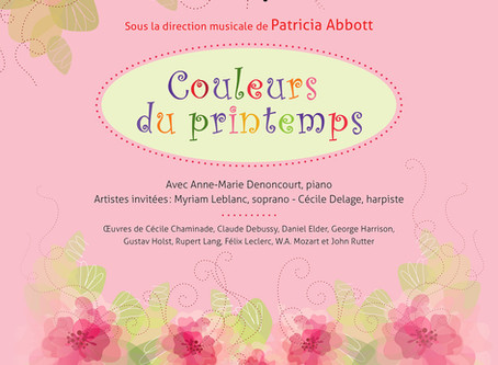 """Concert """"Couleurs du printemps"""" avec Myriam Leblanc"""