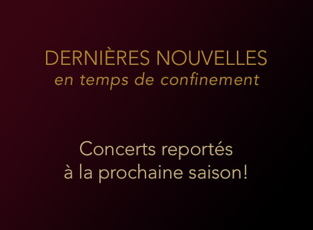 CONCERTS REPORTÉS