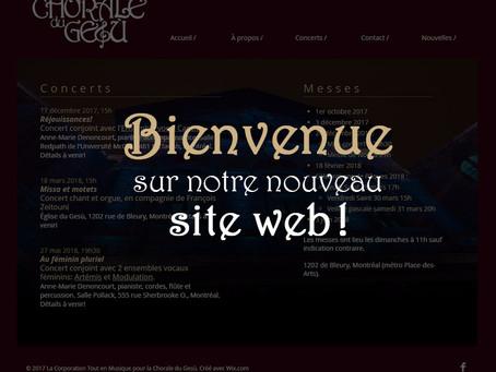 Nouveau site web en ligne!