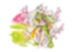 Luma Postkarten mit Kumiko-Motivdruck 4c im Querformat