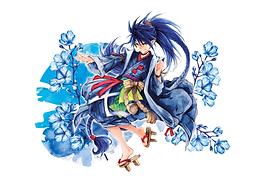 Luma Postkarte mit Tatsuro-Motivdruck 4c im Querformat