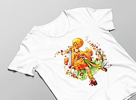 Luma Herren T-Shirt in weiß mit Luma-Motivdruck in Größe L