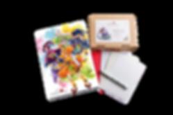 Luma Mix Pack-Set, Luma Designbox Mix Pack, Luma Klappkarten Marker und Mixed Media, Briefumschläge weiß und rot, Kuretake Fineliner