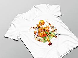 Luma Damen Shirt in weiß mit Luma-Motivdruck in Größe M