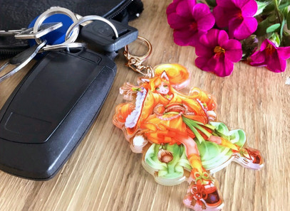 Luma Acryl-Anhänger für Schlüssel