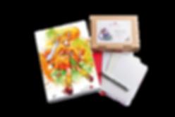 Luma Mixed Marker-Set, Luma Designbox Marker, Luma Klappkarten Marker und Mixed Media, Briefumschläge weiß und rot, Kuretake Fineliner