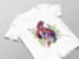 Luma Damen Shirt in weiß mit Ayumi-Motivdruck in Größe M