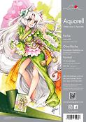 Luma Aquarell Papier, 300 g/m², DIN A4, A3, säurefrei, naturweiß, raue und filzmarkiere Oberfläche