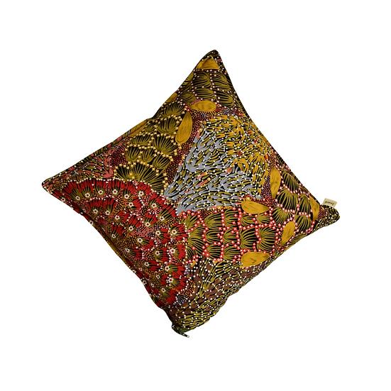 """Cushion cover - """"Bush Banana"""" mustard"""