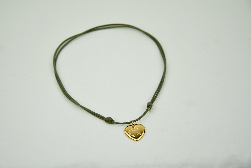 Heart pendant - Plated Gold
