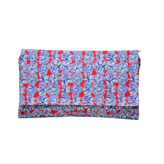 """Clutch Paloma - """"Liberty Fabric bleu"""""""