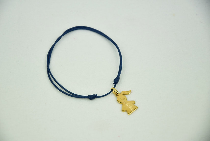 Girl pendant - Plated Gold