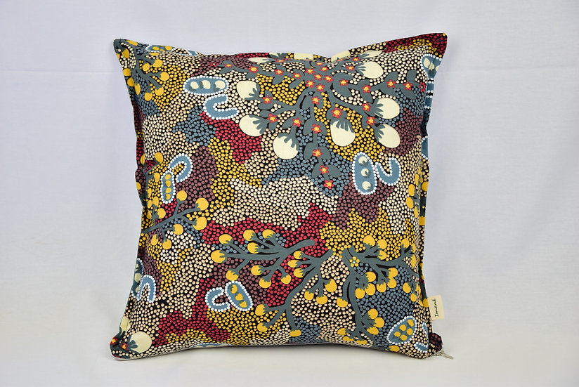"Cushion cover - ""Bush sultana"" teal"