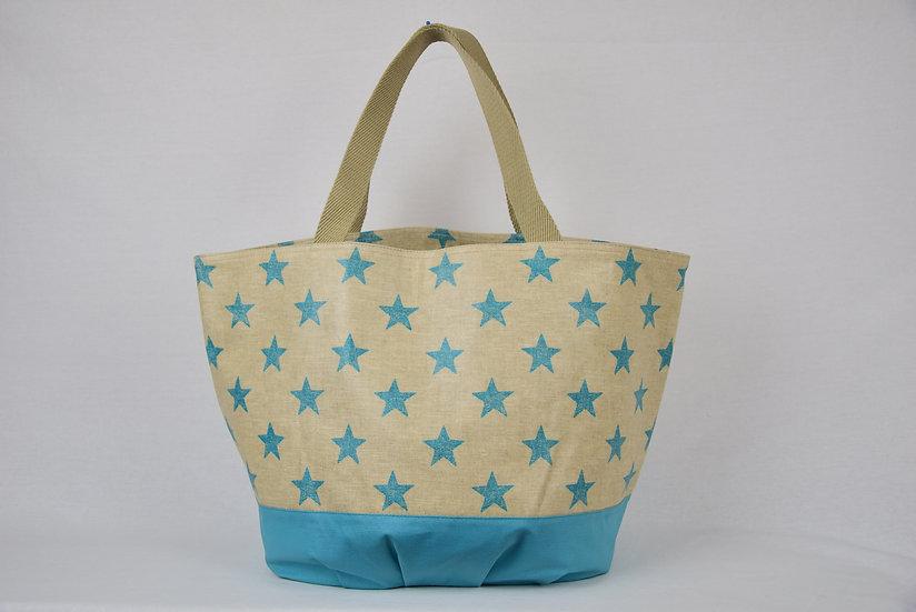 """Handbag Emma - """"Stars turquoise"""""""