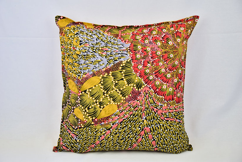 "Cushion cover - ""Bush Banana"" mustard"
