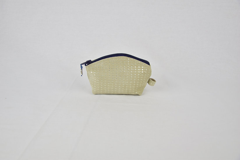 """Coin purse - """"leather silver lining"""" - navy"""