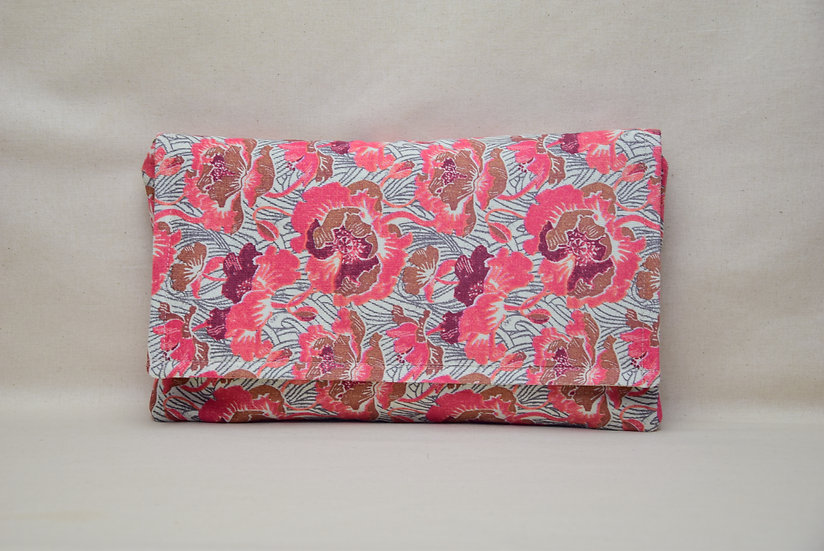 "Clutch Paloma - ""Liberty Fabric rose"""