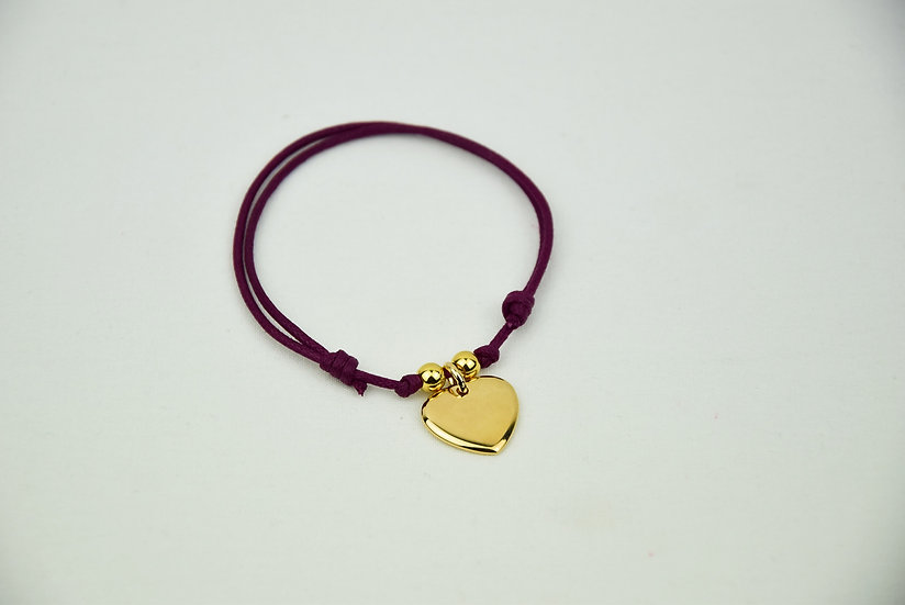 Heart pendant w/ spheres - Plated Gold