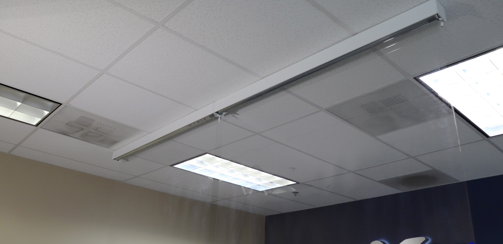WorkSpace Shield Motorized Roller Shade