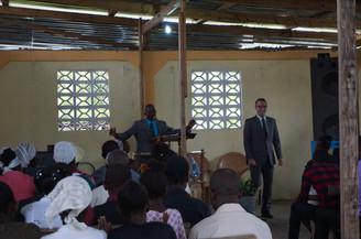 Preaching in Houck Haiti