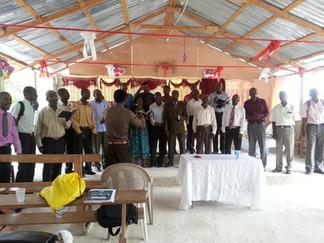 Pastors singing for us.