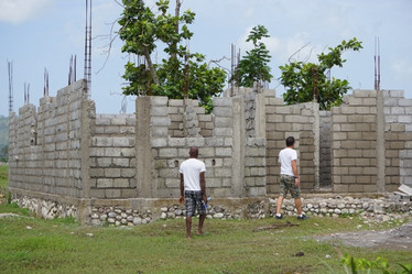 Walls are going up for the Prince Family house.