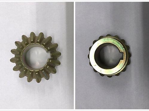 Gear for assembler exit green belt with keygroove