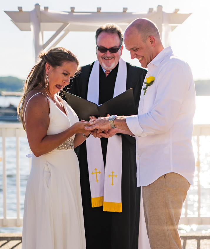 Lake of the Ozarks Wedding Ceremony Rings