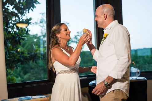 Lake of the Ozarks Wedding Cake Cutting