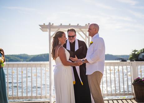 Lake of the Ozarks Wedding Ceremony Waterfront