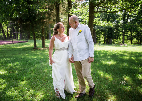Lake of the Ozarks Wedding Couple Walking