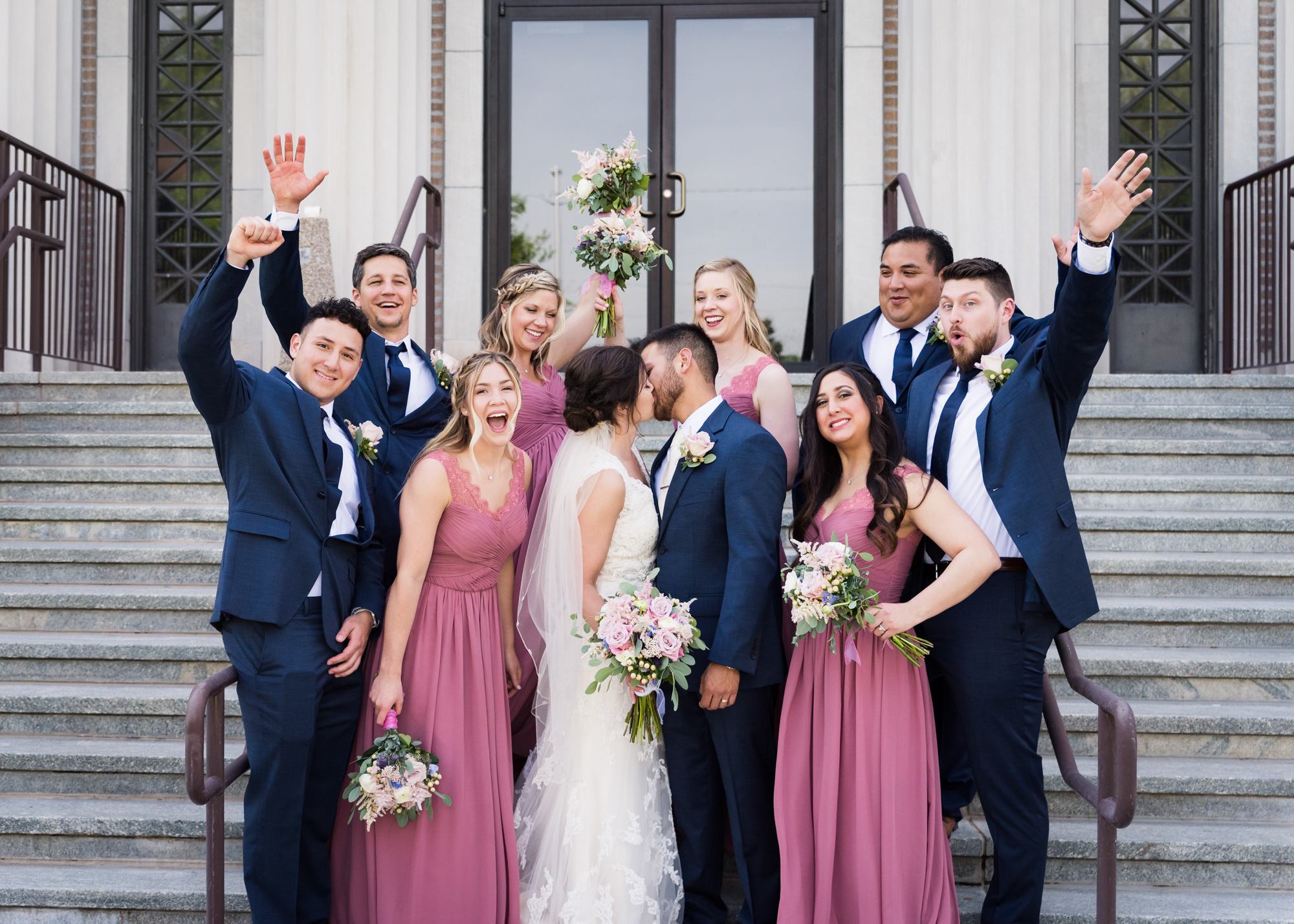 Kansas City Wedding Party Photograph