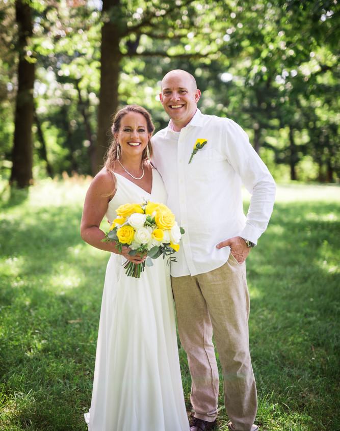 Lake of the Ozarks Wedding Couple Green