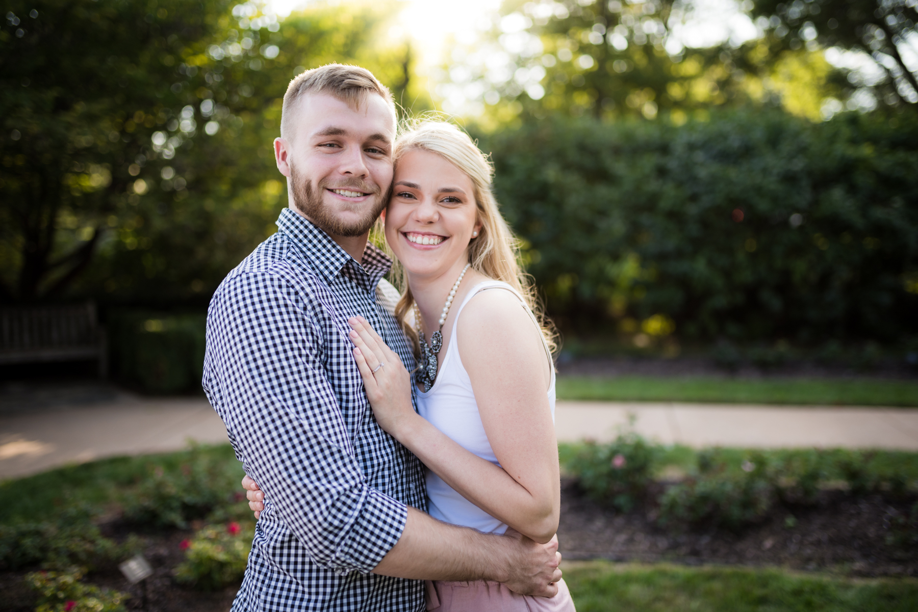 Loose Park Kansas City Engagement